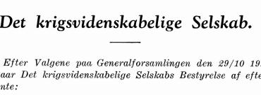 Det krigsvidenskabelige Selskabs bestyrelse 1945