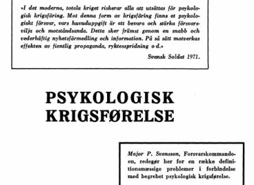 PSYKOLOGISK KRIGSFØRELSE
