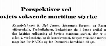 Perspektiver ved Sovjets voksende maritime styrke