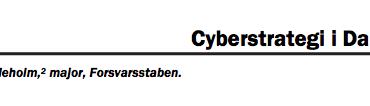 Cyberstrategi i Danmark