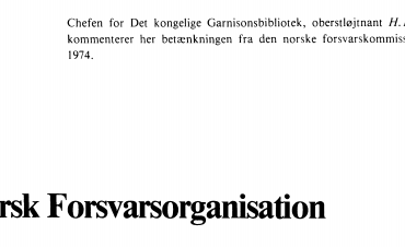 Norsk Forsvarsorganisation