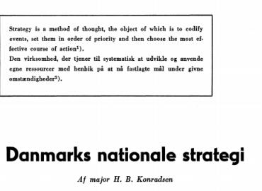 Danmarks nationale strategi