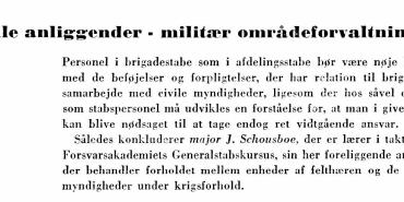 Civile anliggender — militær områdeforvaltning