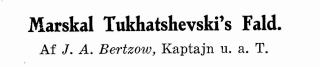 Marskal Tukhatshevski's Fald