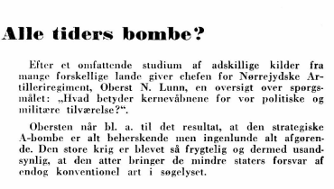 Alle tiders bombe?