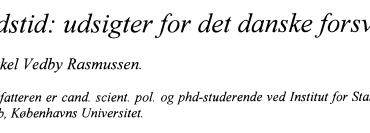 Fredstid: udsigter for det danske forsvar