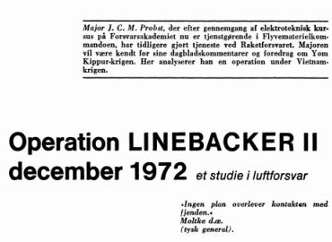 Operation LINEBACKER II december 1972 - et studie i luftforsvar