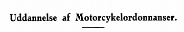 Uddannelse af Motorcykelordonnanser