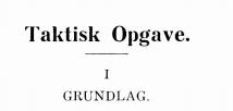 Taktisk Opgave 1935 - 1