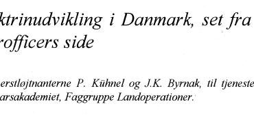 Doktrinudvikling i Danmark, set fra en hærofficers side