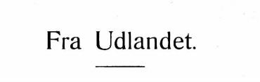 Fra Udlandet 1929 - 2