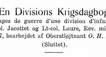 En Divisions Krigsdagbog - X
