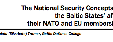 The National Security Concepts of the Baltic States' after their NATO and EU membership