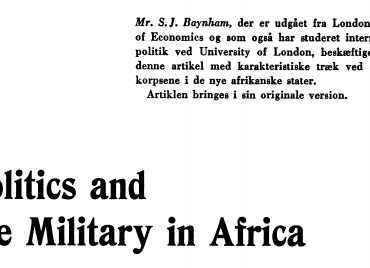Politics and the Military in Africa