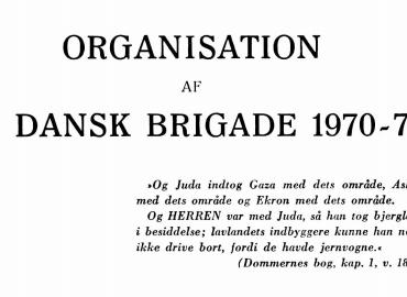 Organisation af en dansk brigade