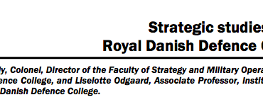 Strategic studies at the Royal Danish Defence College
