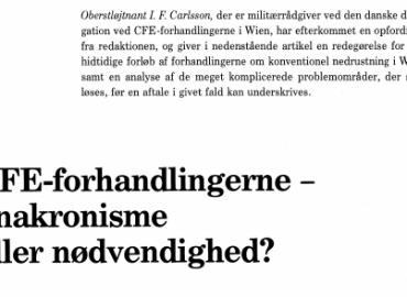CFE-forhandlingeme - anakronisme eller nødvendighed?