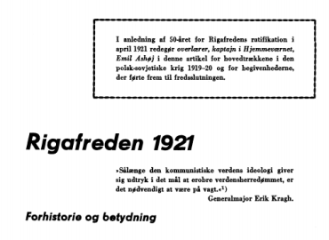 Rigafreden 1921
