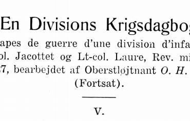 En Divisions Krigsdagbog - V