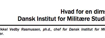 Hvad for en dims er Dansk Institut for Militære Studier?