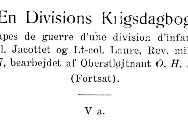 En Divisions Krigsdagbog - V a