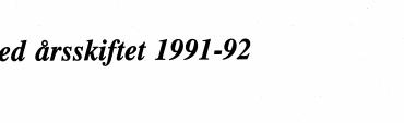 Ved årsskiftet 1991-92