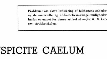 SUSPICITE CAELUM