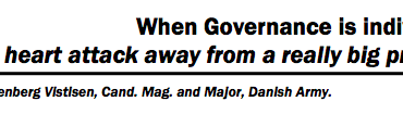 "When Governance is individuals: ""..one heart attack away from a really big problem"""