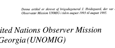 United Nations Observer Mission in Georgia (UNOMIG)