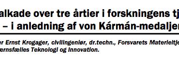 En kavalkade over tre årtier i forskningens tjeneste – i anledning af von Kármán-medaljen 2011