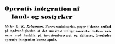 Operativ integration af land- og søstyrker