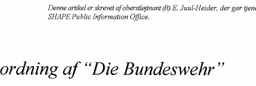 """Nyordning af ''Die Bundeswehr"""""""