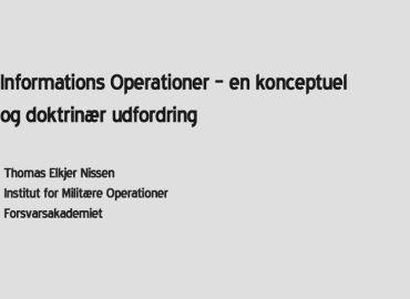 Informations Operationer  – en konceptuel og doktrinær udfordring