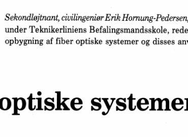 Fiber optiske systemer