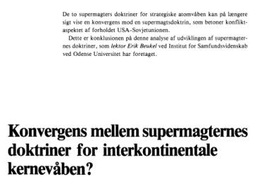 Konvergens mellem supermagternes doktriner for interkontinentale kernevåben?