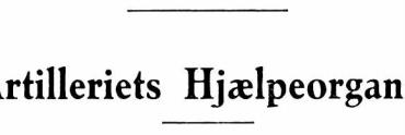 Artilleriets Hjælpeorganer