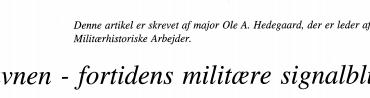 Bavnen - fortidens militære signalblus