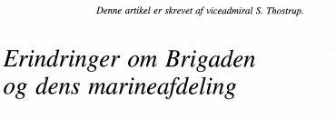 Erindringer om Brigaden og dens marineafdeling