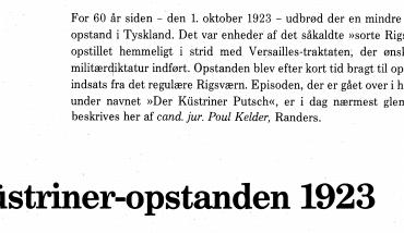 Kustriner-opstanden 1923
